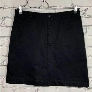 Gap Khakis Womens Pencil Black Mini Skirt Size 10